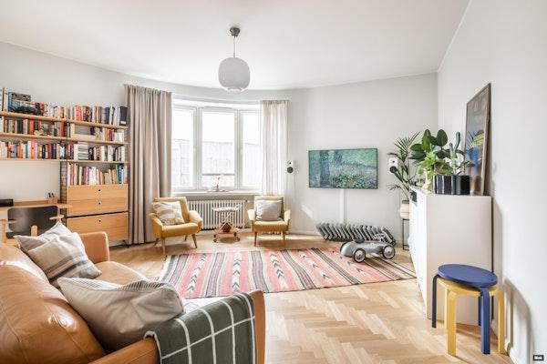 Ainutlaatuinen kulma-asunto funkistalossa Hakaniemen hallin kulmalla - Hämeentie 4  a11