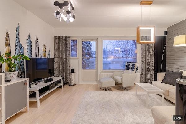 Tyylikäs ja moderni kahden makuuhuoneen rivitaloasunto Haritussa - Kymenlaaksonkuja 1 C 31