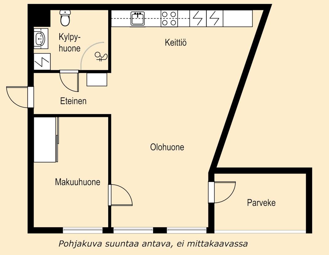 Vaaleasävyinen koti vuonna 2015 rakennetusta talosta Pohjakuva