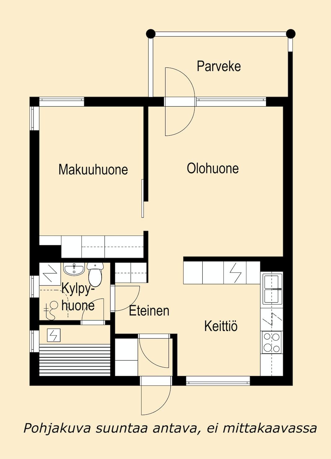 Luhtitalon toisen kerroksen kaunis koti Pohjakuva