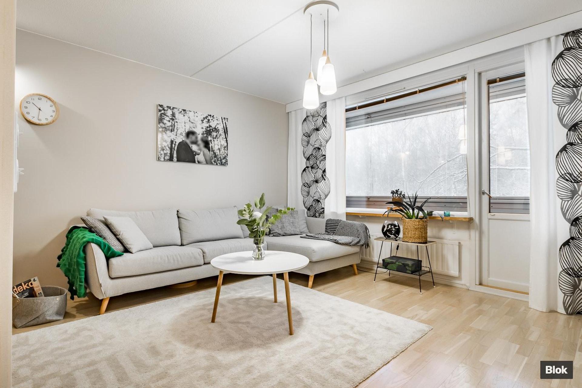 Kaunis ja tunnelmallinen kerrostalokoti Tampereen Kissanmaalla