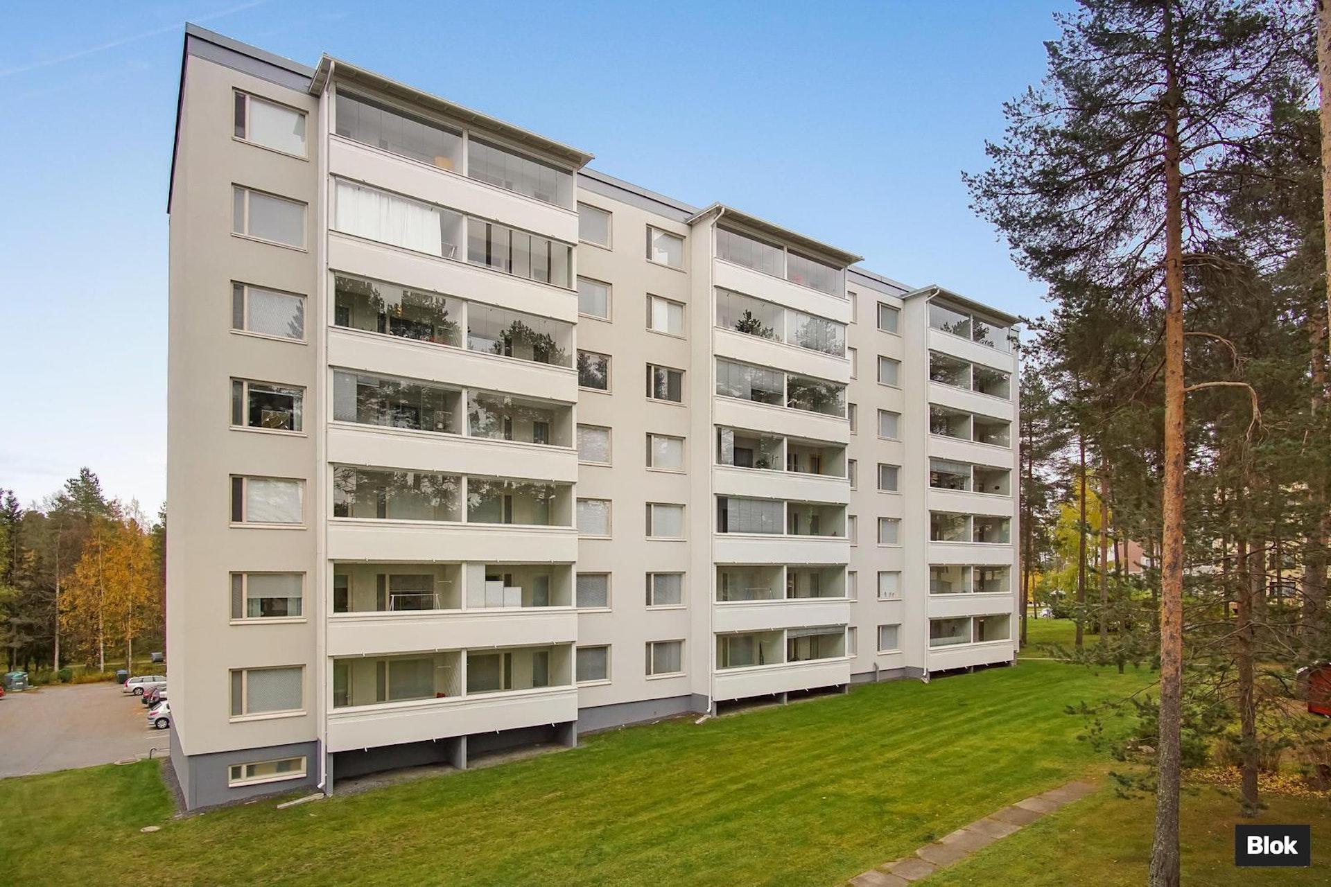 Selkeäpohjainen asunto Oulun Kaukovainiossa