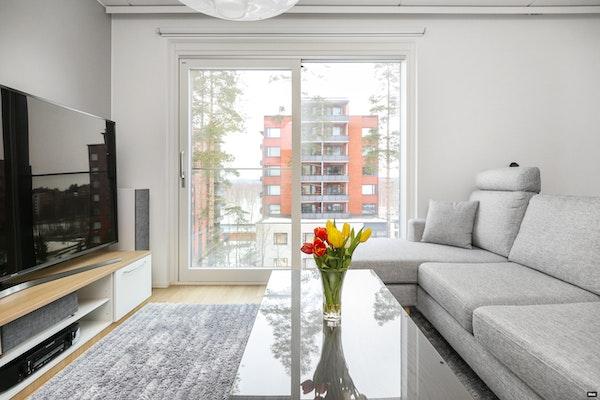 Moderni ja tilava yksiö 2018 valmistuneessa talossa Savelassa - Vehkakuja 4B  23