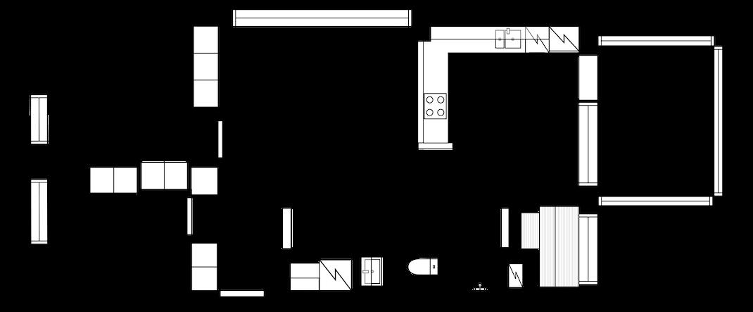 Kulmahuoneisto avonaisella pohjalla ja hyvien kulkuyhteyksien varrella Latokartanossa Pohjakuva