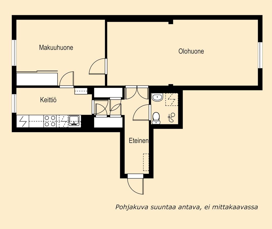 Upea kuudennen kerroksen koti Pohjakuva