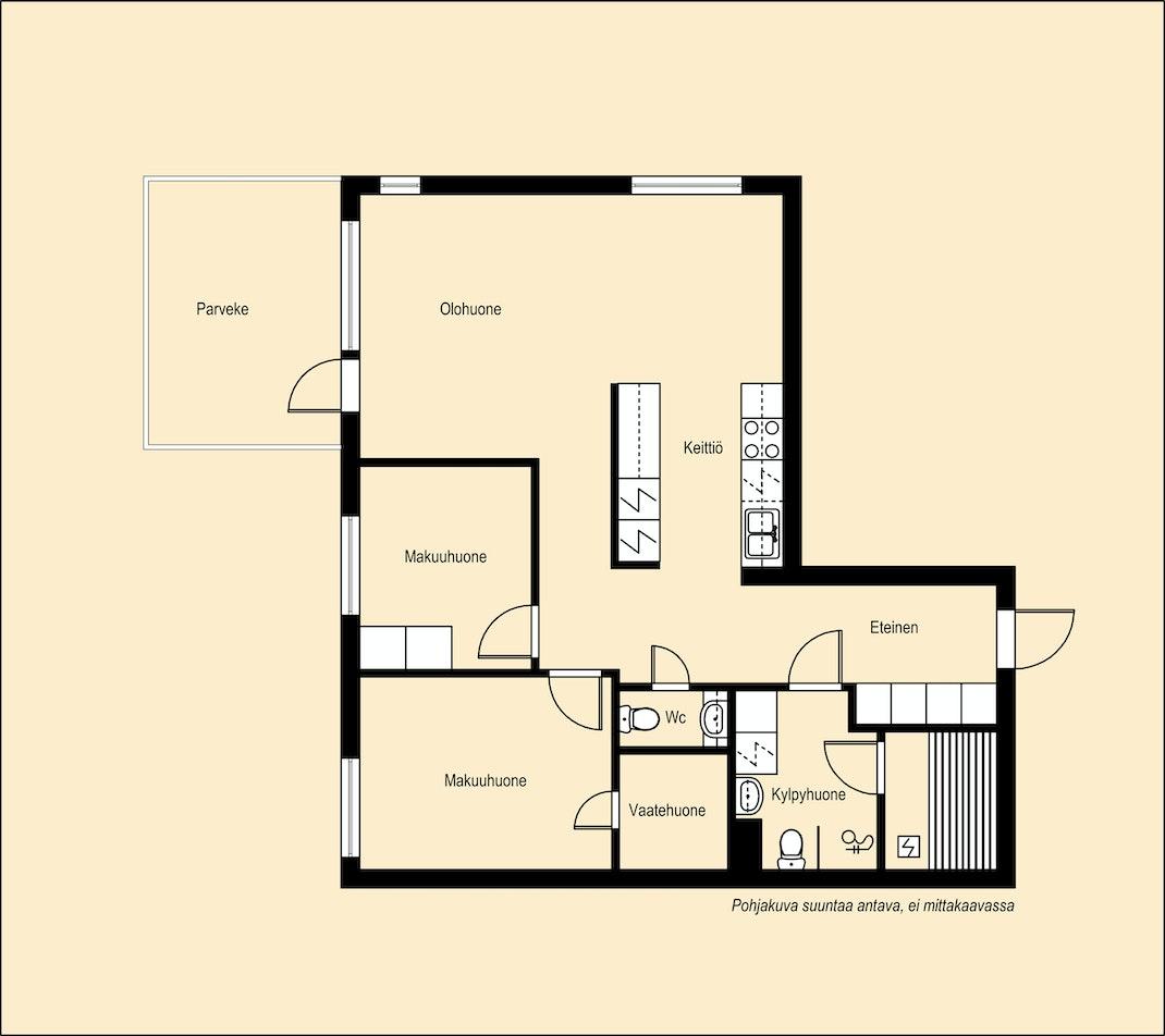 Kuudennen kerroksen kaunis koti Pohjakuva