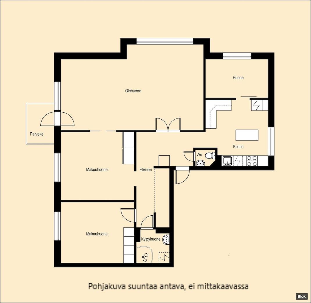 Kaunis neljännen kerroksen koti Riihimäeltä! Pohjakuva