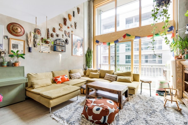 Upea kaksi kerrosta ja parven käsittävä loft-asunto Kruunuvuorenrannassa - Saaristolaivastonkatu 2  A 8
