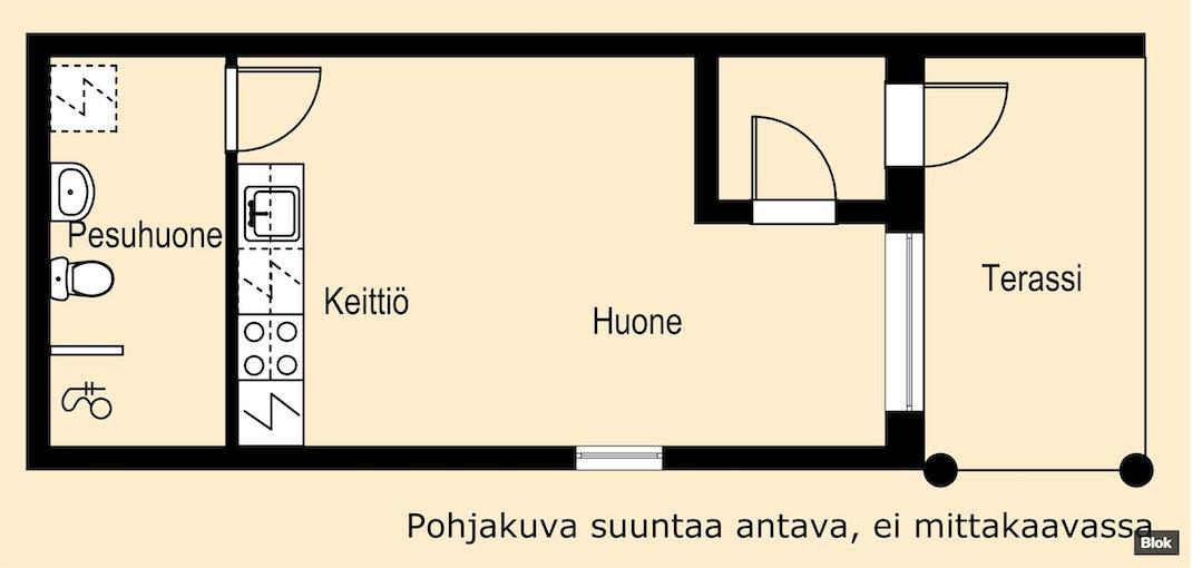 Viihtyisä koti vuonna 2016 rakennetusta talosta Pohjakuva