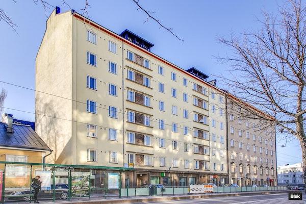 Putkiremontoitu, kodikas yksiö Helsingin Alppilassa - Porvoonkatu 14 B42 B 42